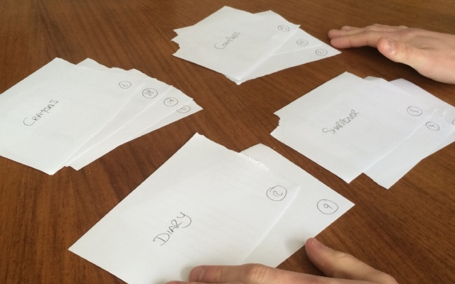 Customer-led user journey research - card sorting