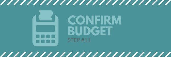 Sales call agenda step 11 - confirm budget