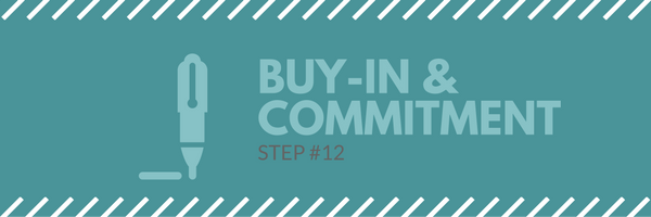 Sales call agenda step 12 - buy in and commitment