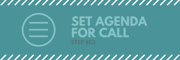Sales call agenda step 3 - set agenda for call