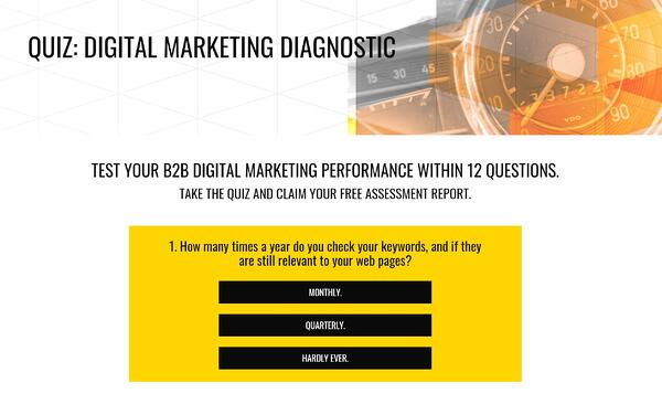 Yellowstep Digital Marketing Diagnostic